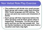 non verbal role play exercise
