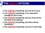 the can do attitude