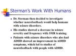 sterman s work with humans