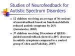 studies of neurofeedback for autistic spectrum disorders