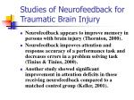studies of neurofeedback for traumatic brain injury