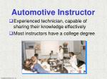 automotive instructor