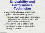 driveability and performance technician