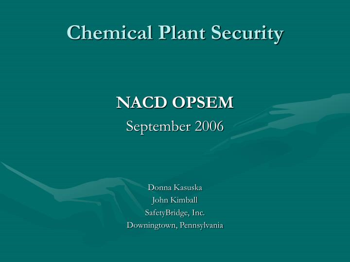 chemical plant security n.