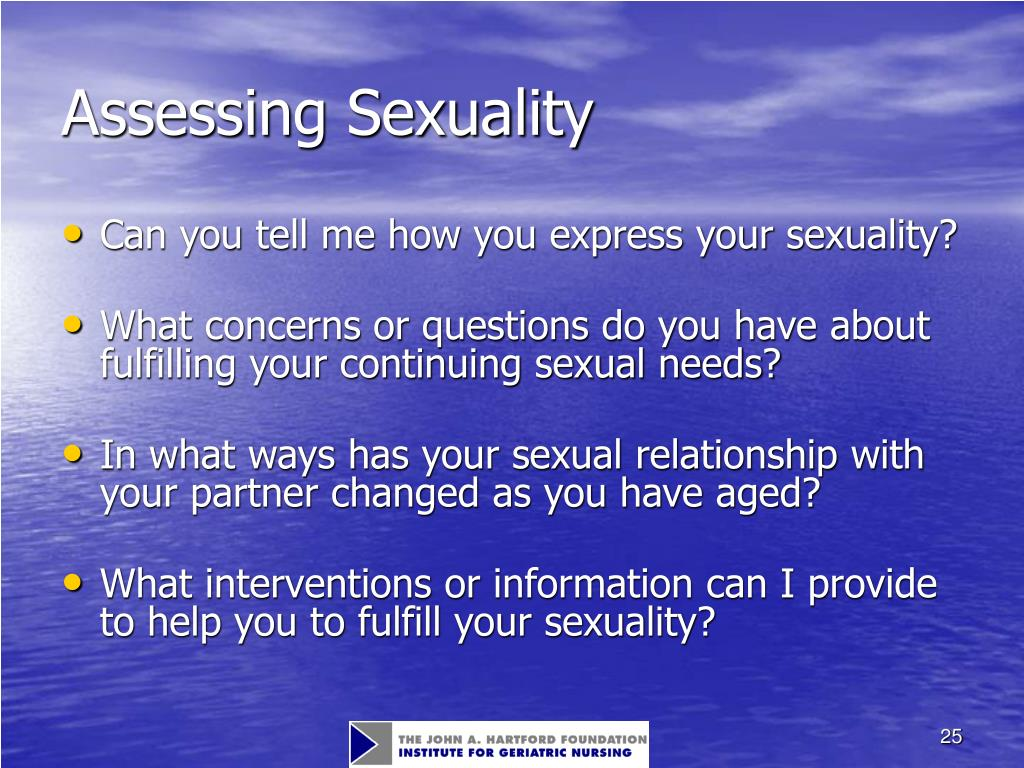 Assessing Sexuality