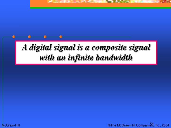 A digital signal is a composite signal with an infinite bandwidth