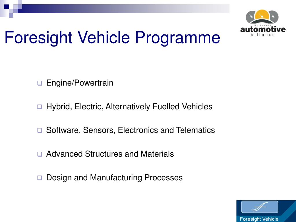 Foresight Vehicle Programme