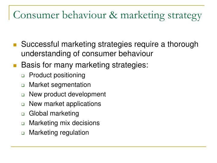 Consumer behaviour marketing strategy