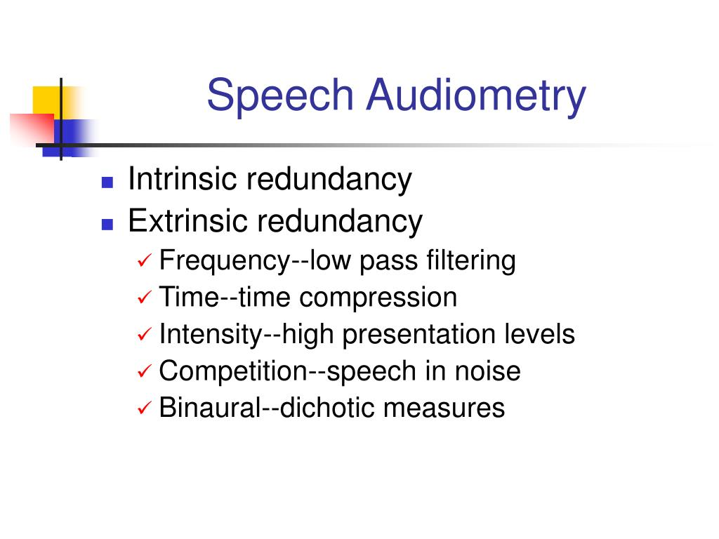 Speech Audiometry