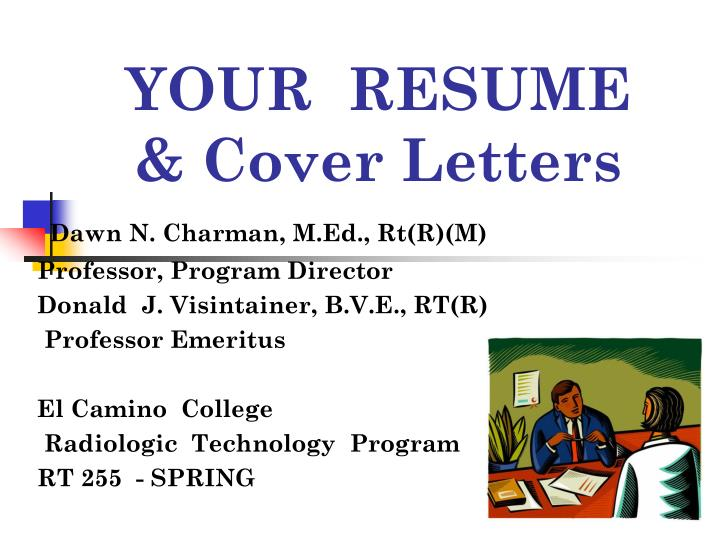 your resume cover letters n.
