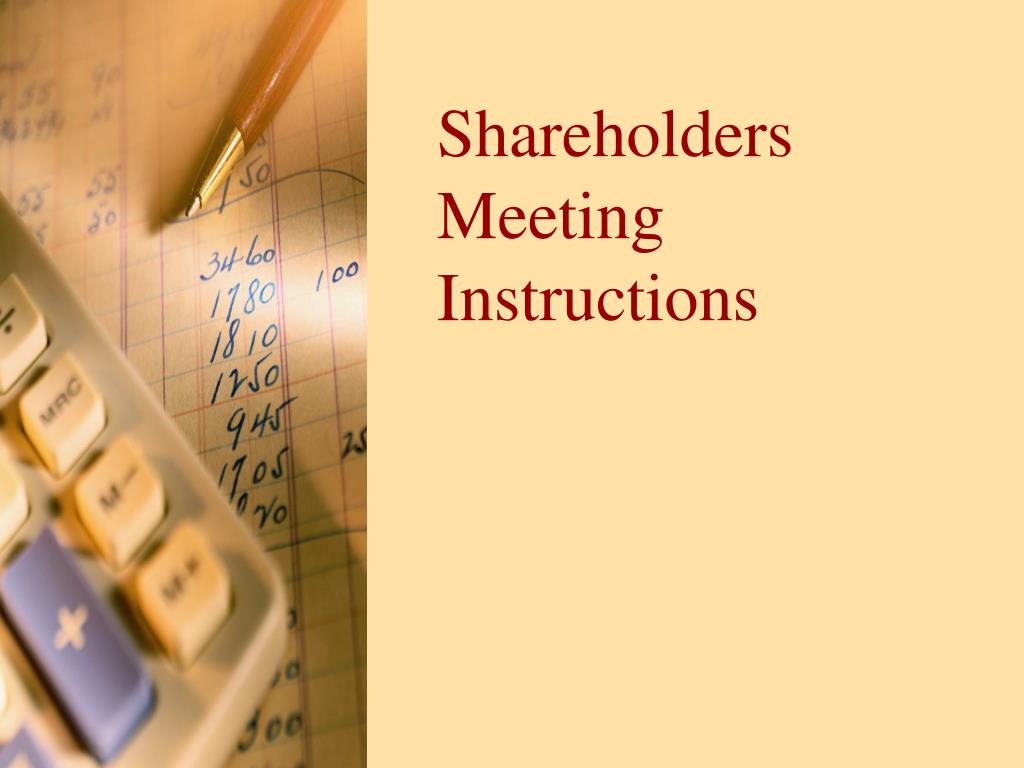 shareholders meeting instructions l.