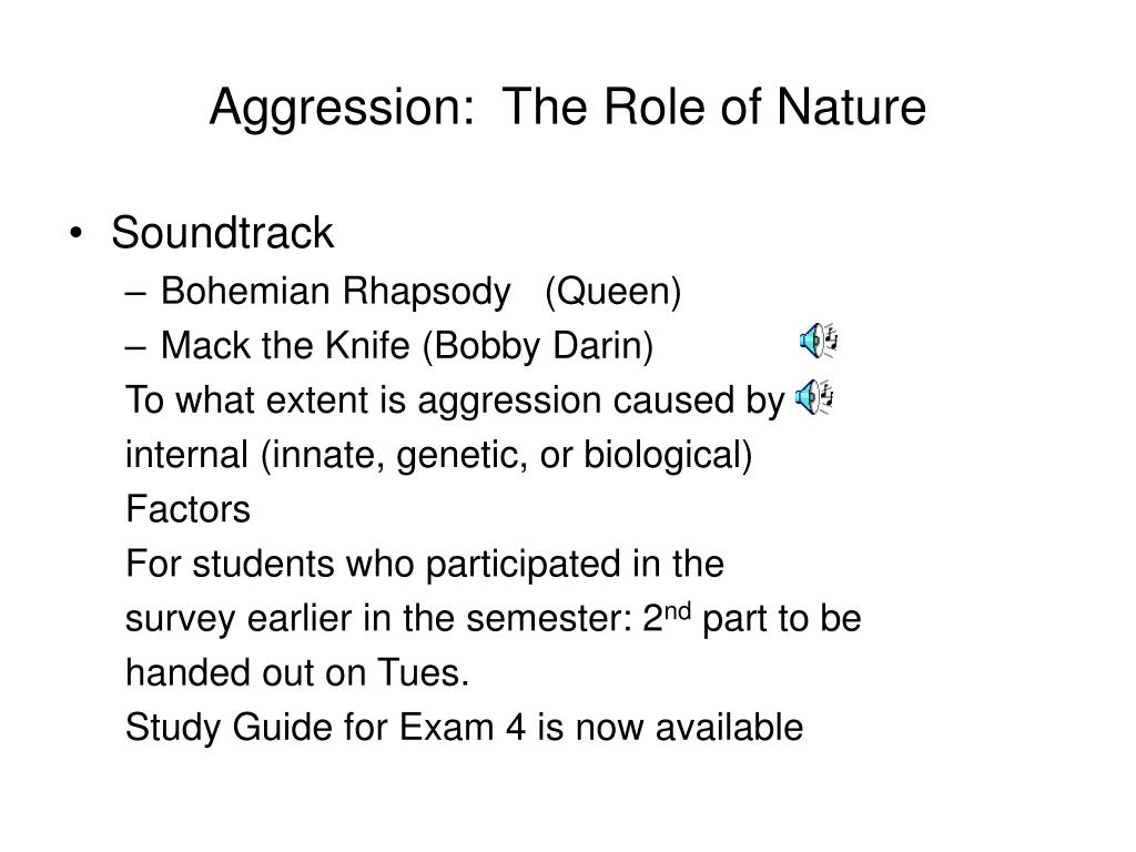 aggression the role of nature l.