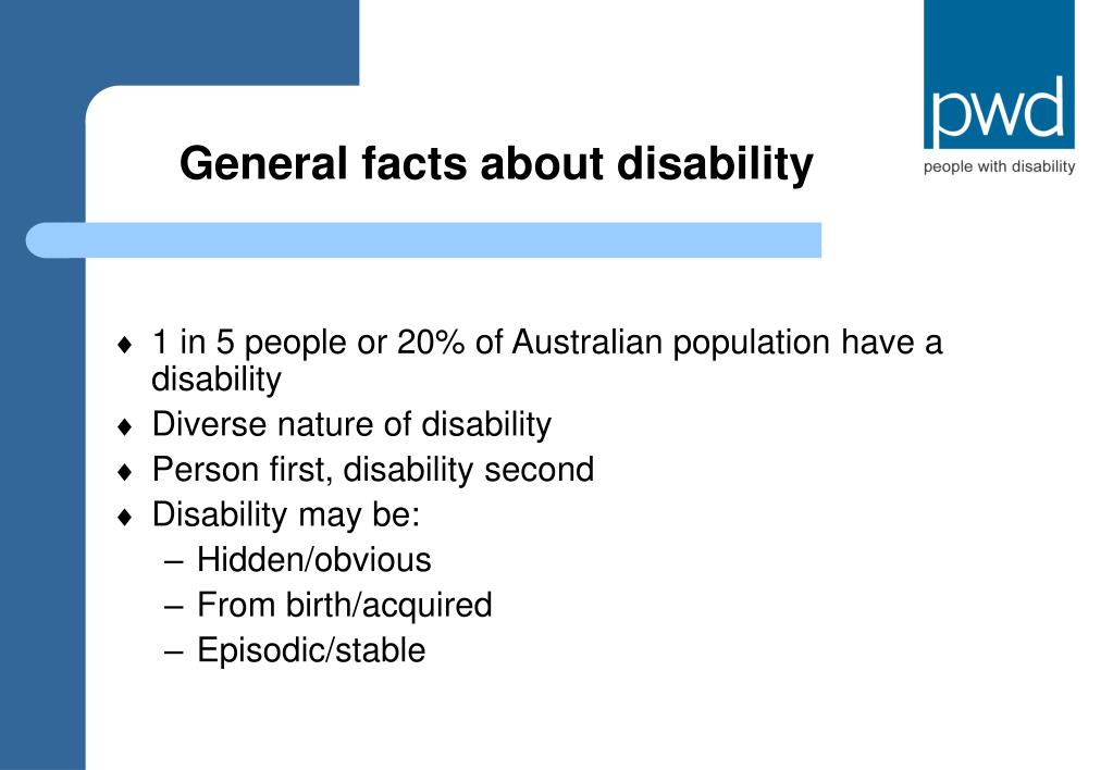 General facts about disability