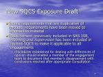 new sqcs exposure draft
