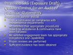 proposed sas exposure draft quality control for an audit of financial statements61