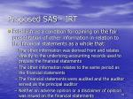 proposed sas irt