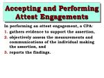 accepting and performing attest engagements23