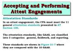 accepting and performing attest engagements24