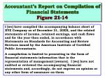 accountant s report on compilation of financial statements figure 21 14