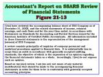 accountant s report on ssars review of financial statements figure 21 13