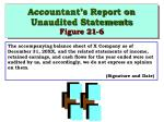 accountant s report on unaudited statements figure 21 6