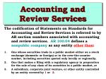 accounting and review services35
