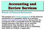 accounting and review services36
