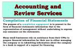 accounting and review services38