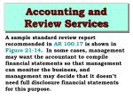 accounting and review services41