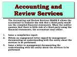 accounting and review services42