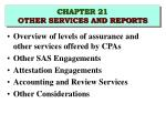 chapter 21 other services and reports