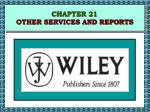 chapter 21 other services and reports44