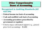 other comprehensive bases of accounting