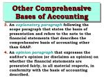 other comprehensive bases of accounting10