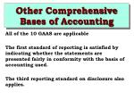 other comprehensive bases of accounting8