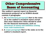 other comprehensive bases of accounting9
