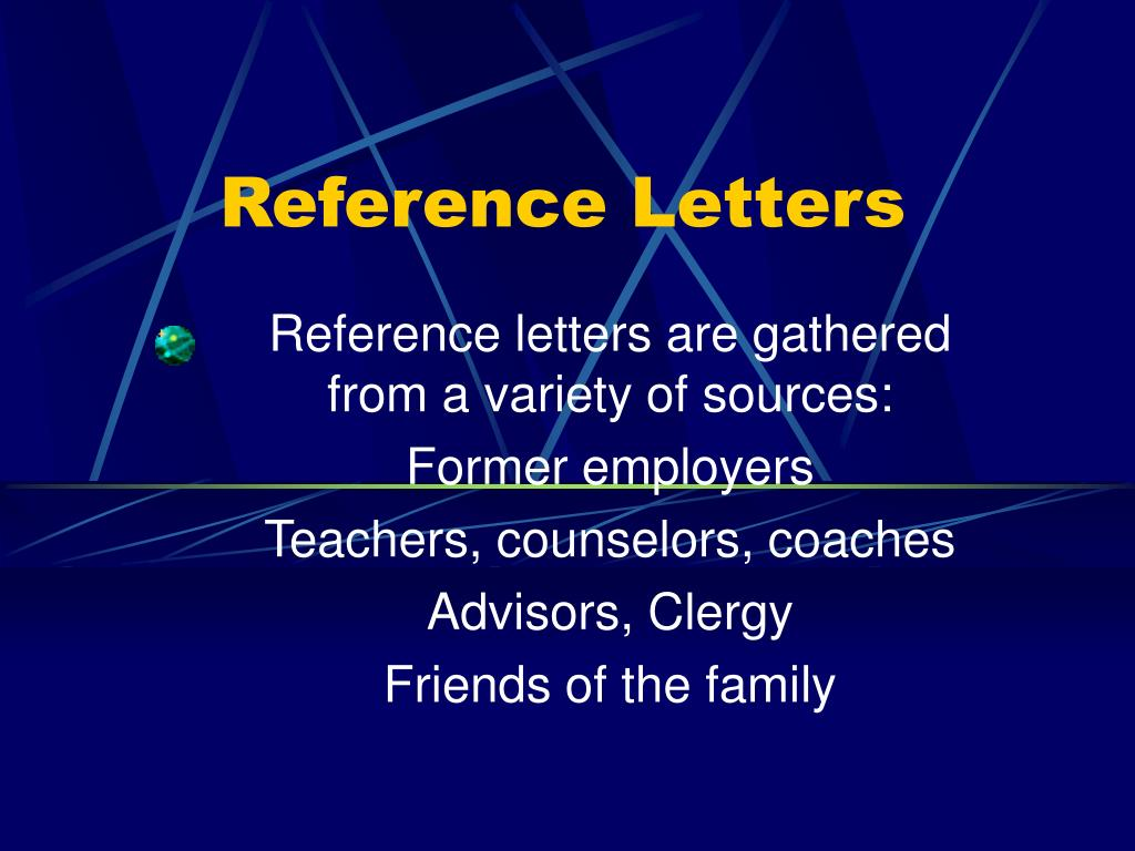 reference letters l.
