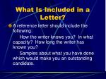 what is included in a letter