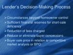 lender s decision making process