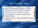 the trustee s sale