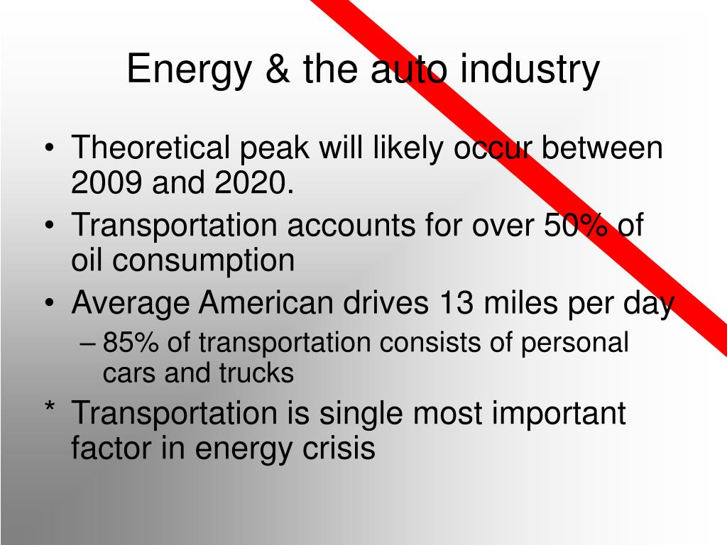 Energy & the auto industry