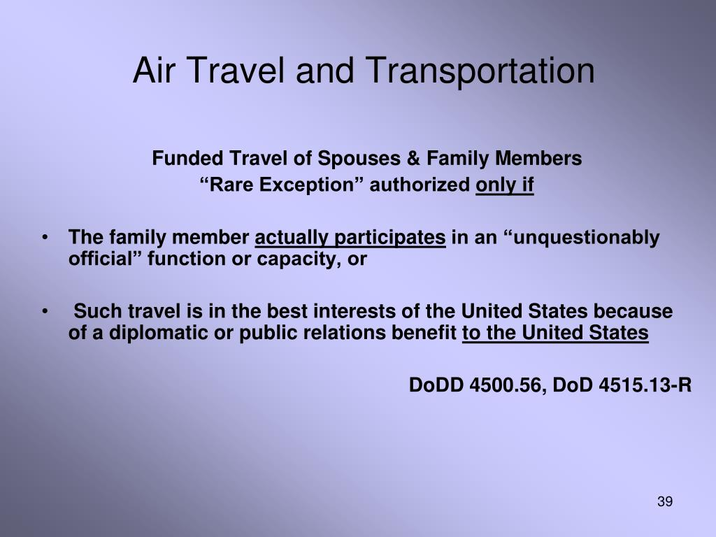 Air Travel and Transportation