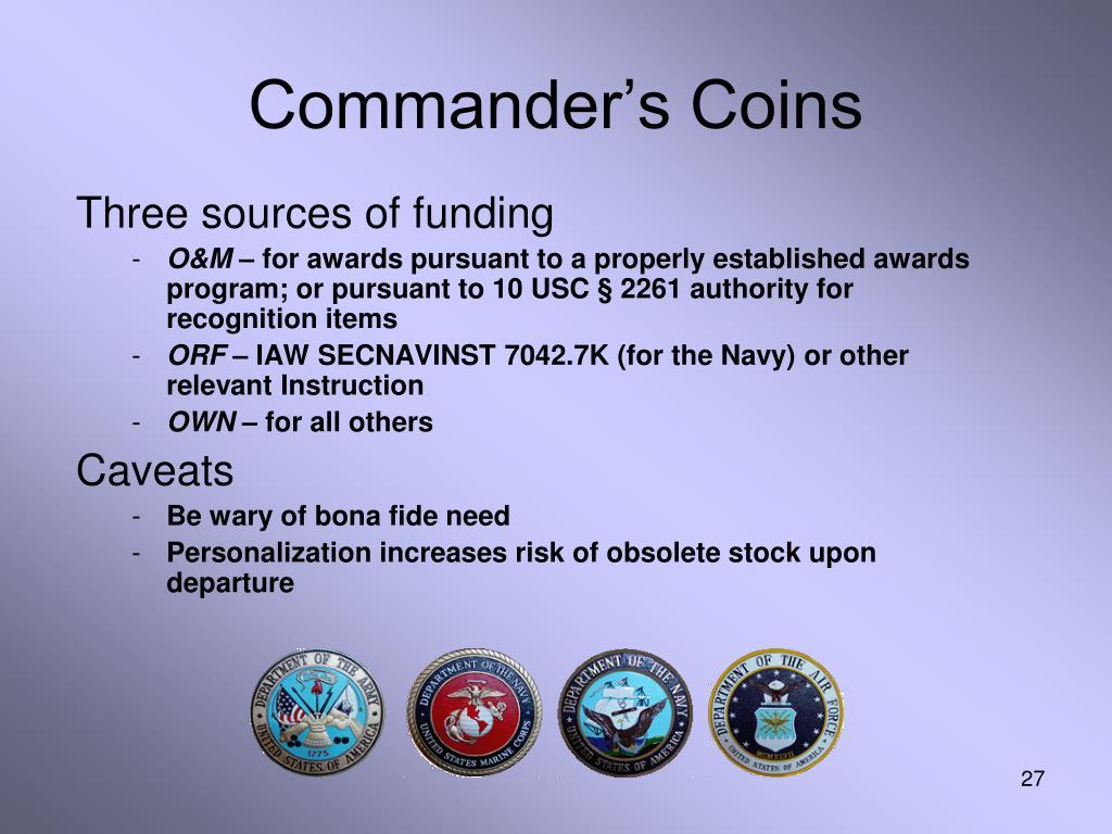 Commander's Coins