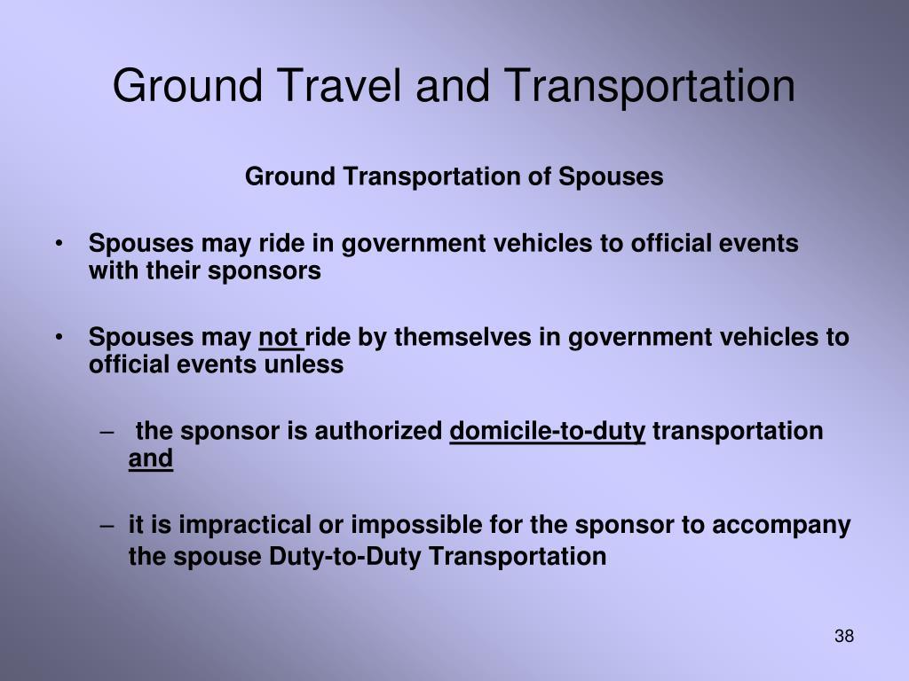 Ground Travel and Transportation