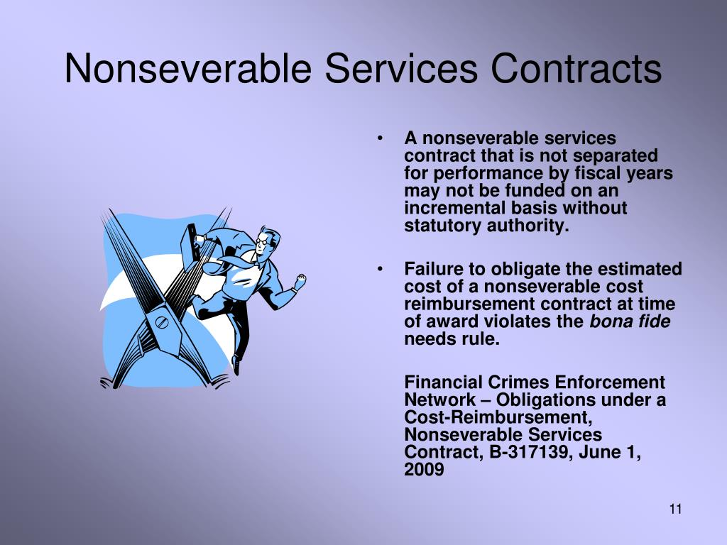 Nonseverable Services Contracts