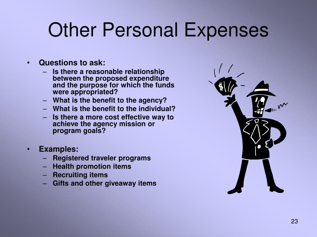 Other Personal Expenses