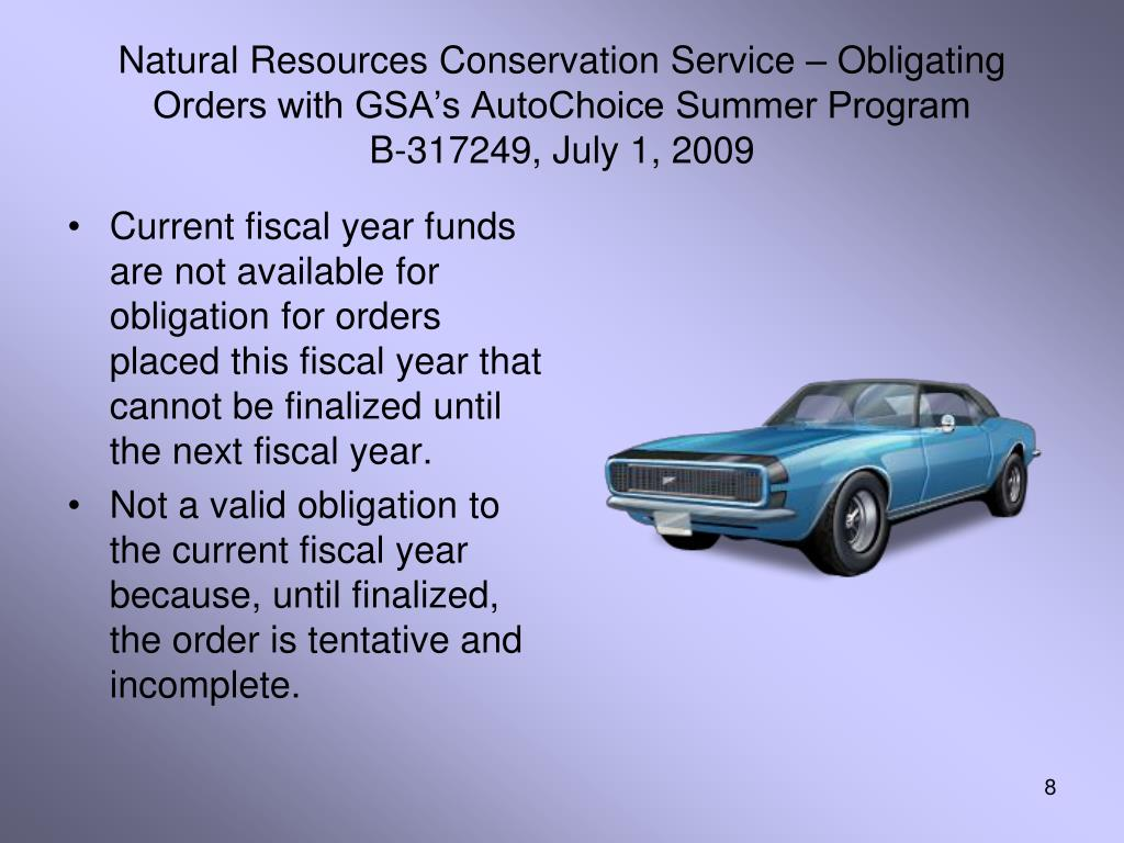 Natural Resources Conservation Service – Obligating Orders with GSA's AutoChoice Summer Program