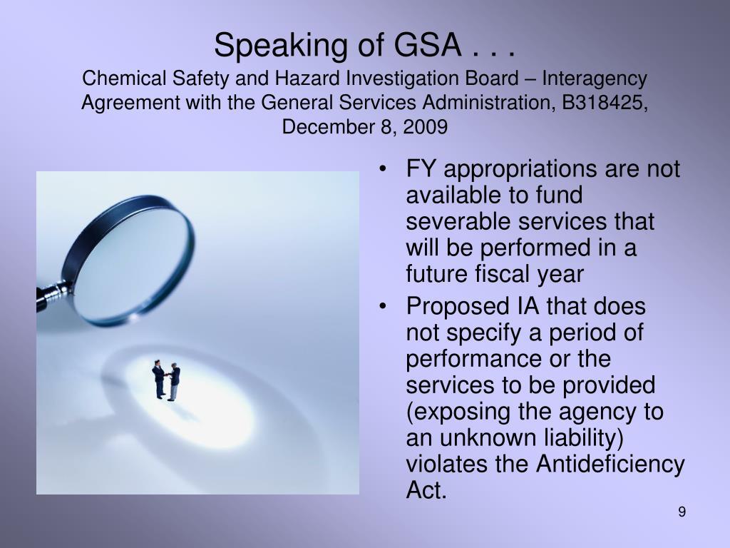 Speaking of GSA . . .