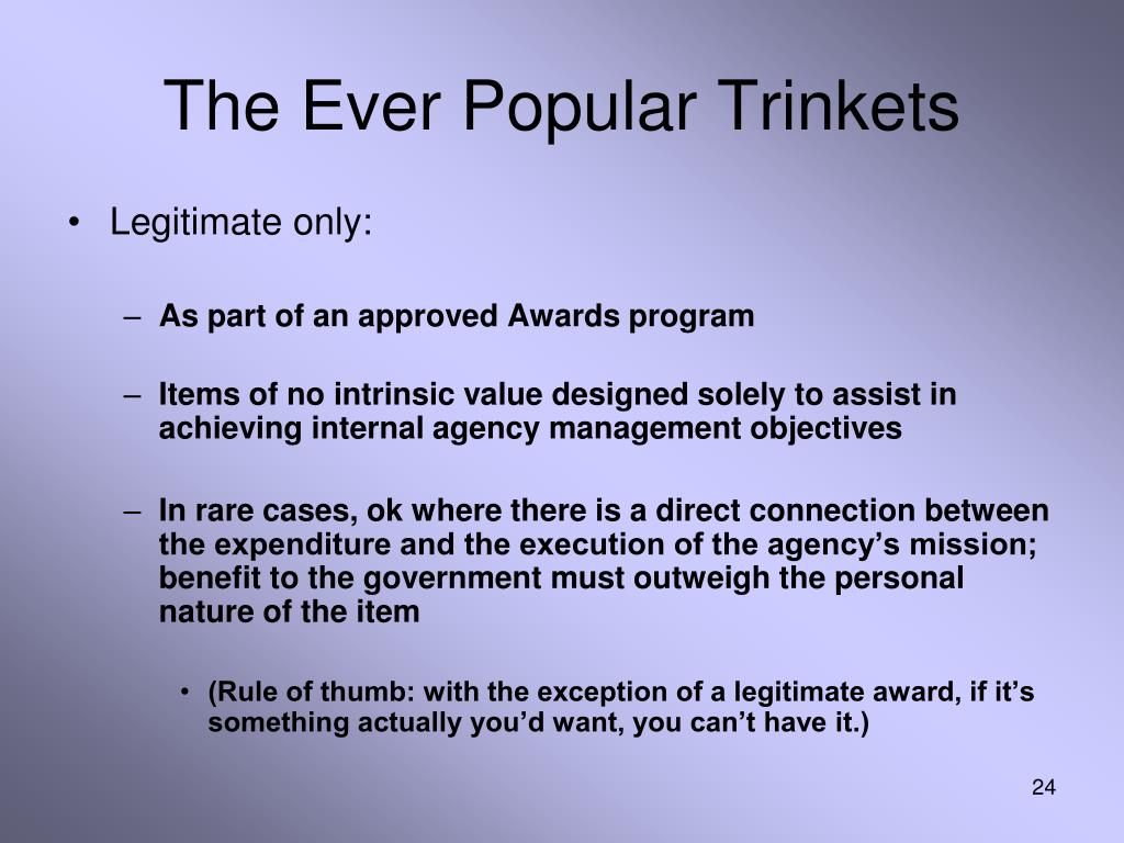 The Ever Popular Trinkets
