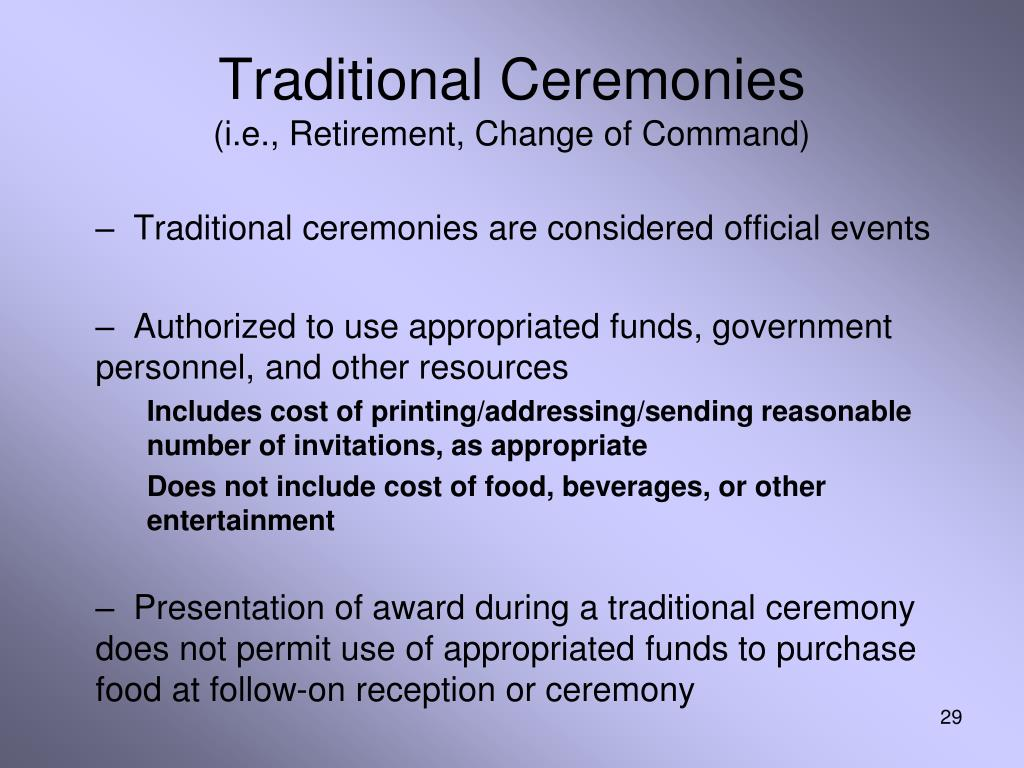 Traditional Ceremonies